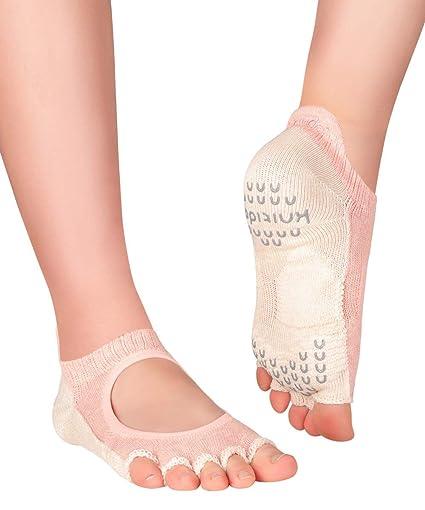 Knitido Plus Kokoro Calcetines de Dedos para Yoga, Danza ...