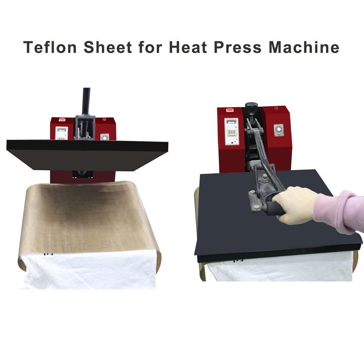 5 Pezzi PTFE Teflon per pressa di calore trasferimento foglio antiaderente resistente al calore,BBQ Griglia Mat Cottura non si appiccica olio-prova Paper Craft Mat 16 x 20