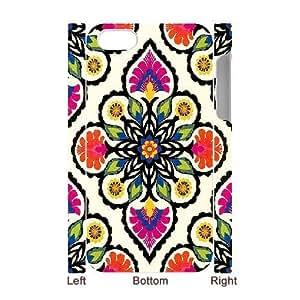3D IPhone 4/4s Case Coloeful Flower Design for Men, Iphone 4s Case Case Jumphigh, {White}