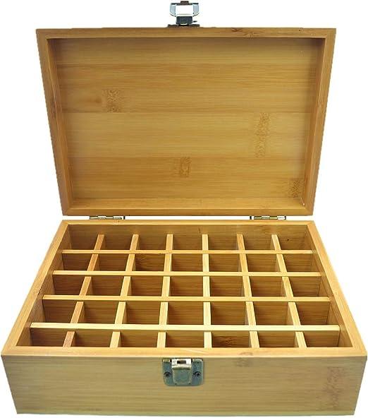 Beunyow 35 Botellas Caja de Aceite Esencial Organizador de Bambú Estuche Portátil Caja de Almacenamiento de Aromaterapia para almacenar Aceite, Perfume, Aceite Esencial para Negocios: Amazon.es: Hogar