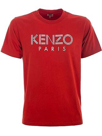 8ec61079992 Kenzo Homme F955TS0924SG21 Rouge Coton T-Shirt  Amazon.fr  Vêtements ...