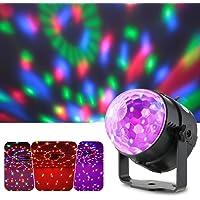 Lixada Bola Discoteca Luces RGB LED Mini Crystal