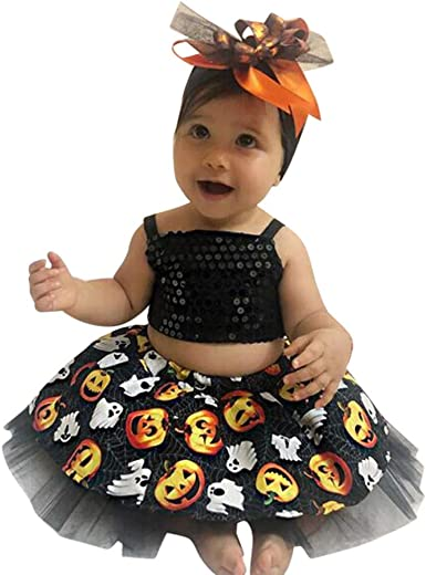 Vest and Tulle Skirt Sleeveless Tops Costume Outfits 1-2 Years Baby Girl Halloween Dress Set