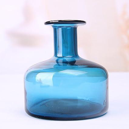 Amazon Art Hand Blown Glass Flower Bottle Art Solid Color Glass