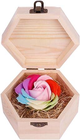 WEI LONG - Jabón de Flores con Caja de Madera para Navidad, San ...