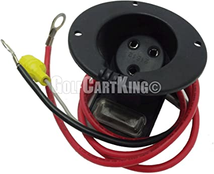 48 Volt Charger Receptacle And Fuse embly | Electric Golf Cart Parts Club Car V Battery Charger Wiring Diagram on club cart parts diagram, ezgo battery installation diagram, club car 48 volt golf cart battery charger, car battery charger schematic circuit diagram,