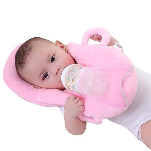 KAKIBLIN Baby Self Feeding/Nursing Pillow Portable Detachable Feeding Pillow(Pink)