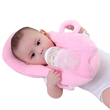 KAKIBLIN Baby Self Feeding/Nursing Pillow Portable Detachable Feeding Pillow (Pink)