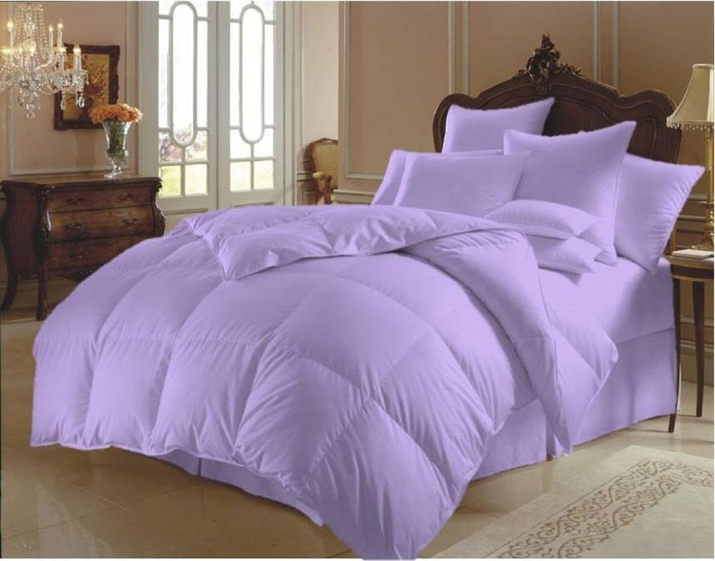 Relaxico Bedding Alternative Goose Down,Box Stitch,Quilted Comforter Hypoallergenic 100% Egyptian Cotton