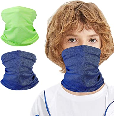 Neck Gaiters Kids Summer Balaclava Headband Covering For Children Unisex