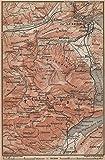 PILATUS. Luzern Lucerne Kriens Alpnach Hergiswil. Topo-map. Schweiz - 1899 - old map - antique map - vintage map - Switzerland map s