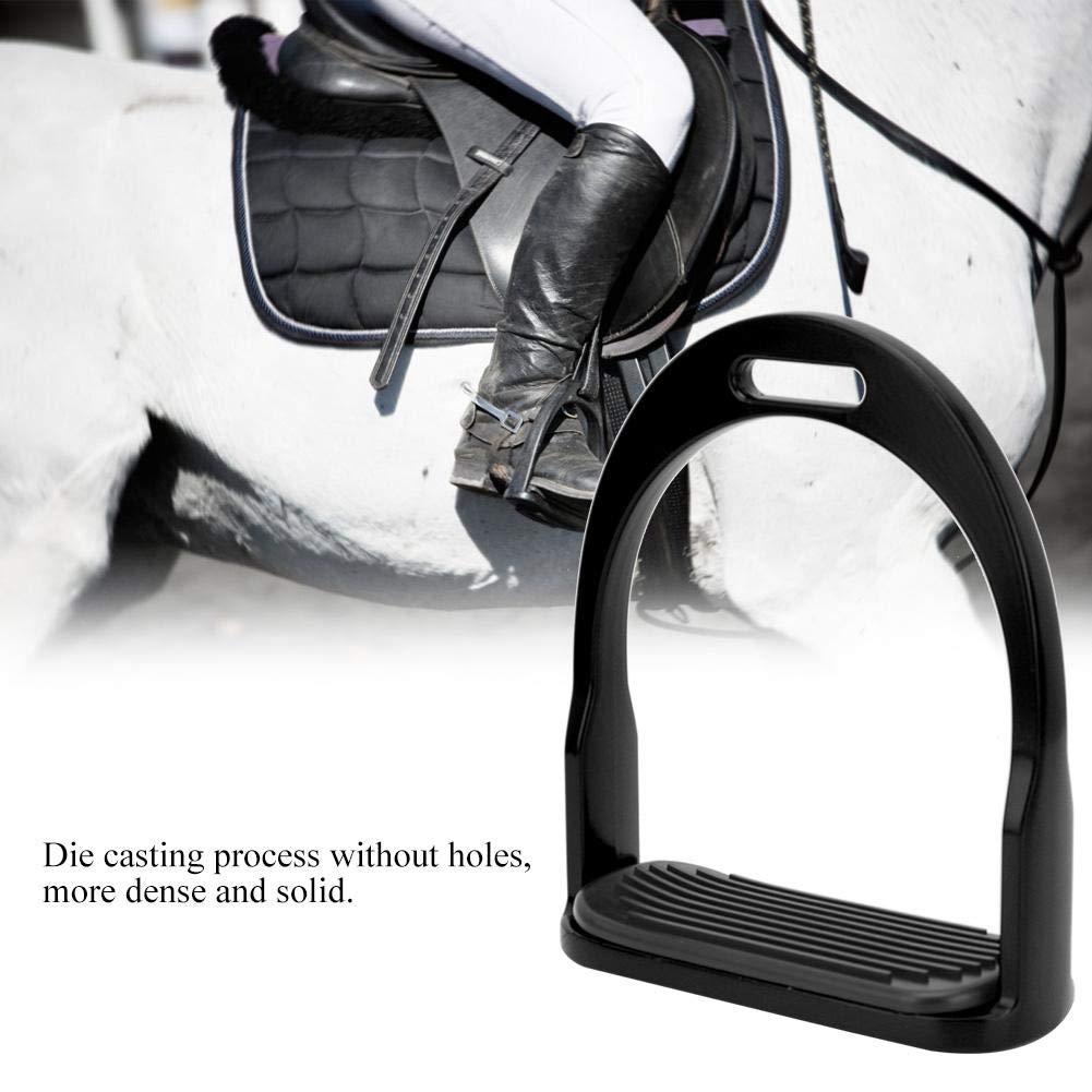 HEEPDD 1 Paar Steigb/ügel Rutschfester Aluminium Pferdesattel Englische Steigb/ügel mit rutschfestem Edelstahlpedal Reiten Sicherheit f/ür Reiter