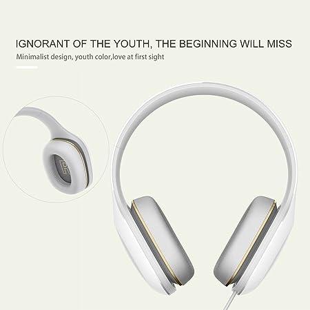 Xiaomi Mi - Auriculares de Diadema Deportivos cómodos con micrófono estéreo DE 3,5 mm (Color: Blanco): Amazon.es: Electrónica