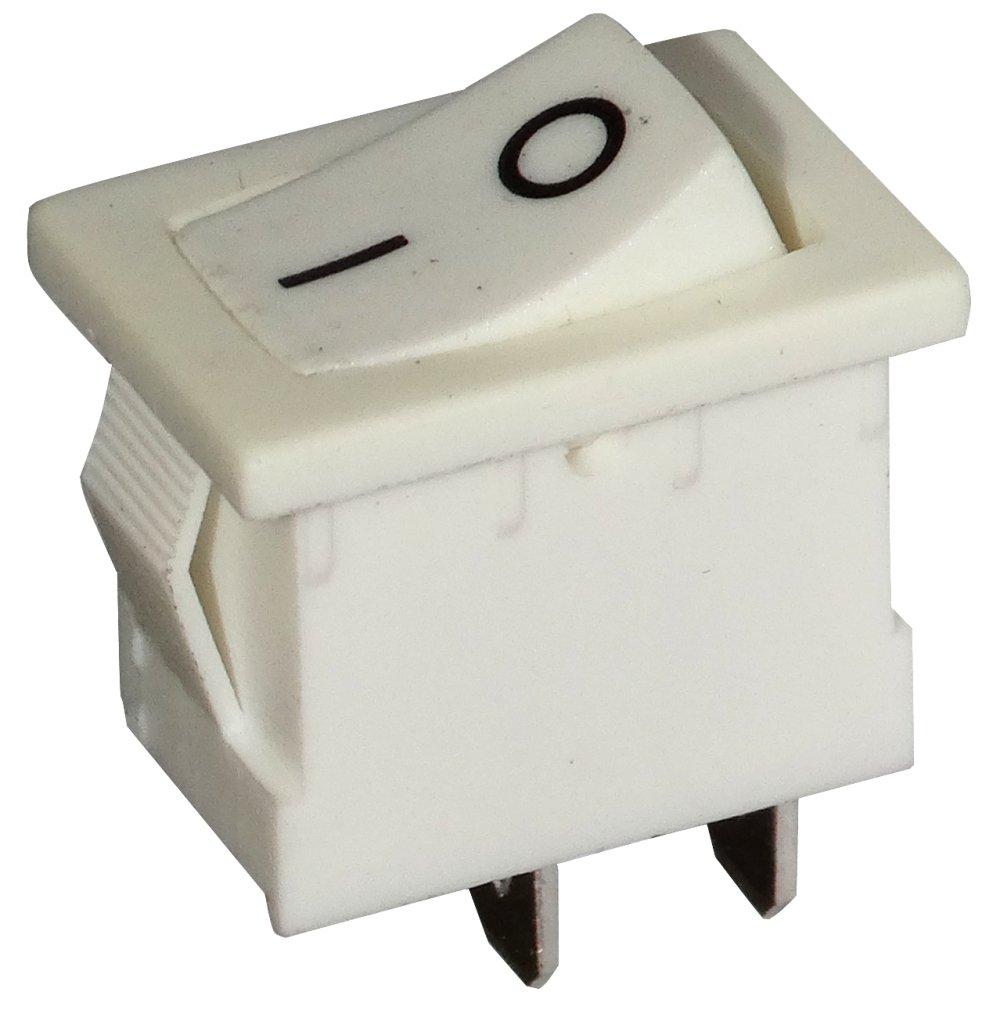 Interruttore a levetta orientabile bianco SPST ON-OFF 3A//250V pulsante a bilanciere switch 2 posizioni C10712 AERZETIX