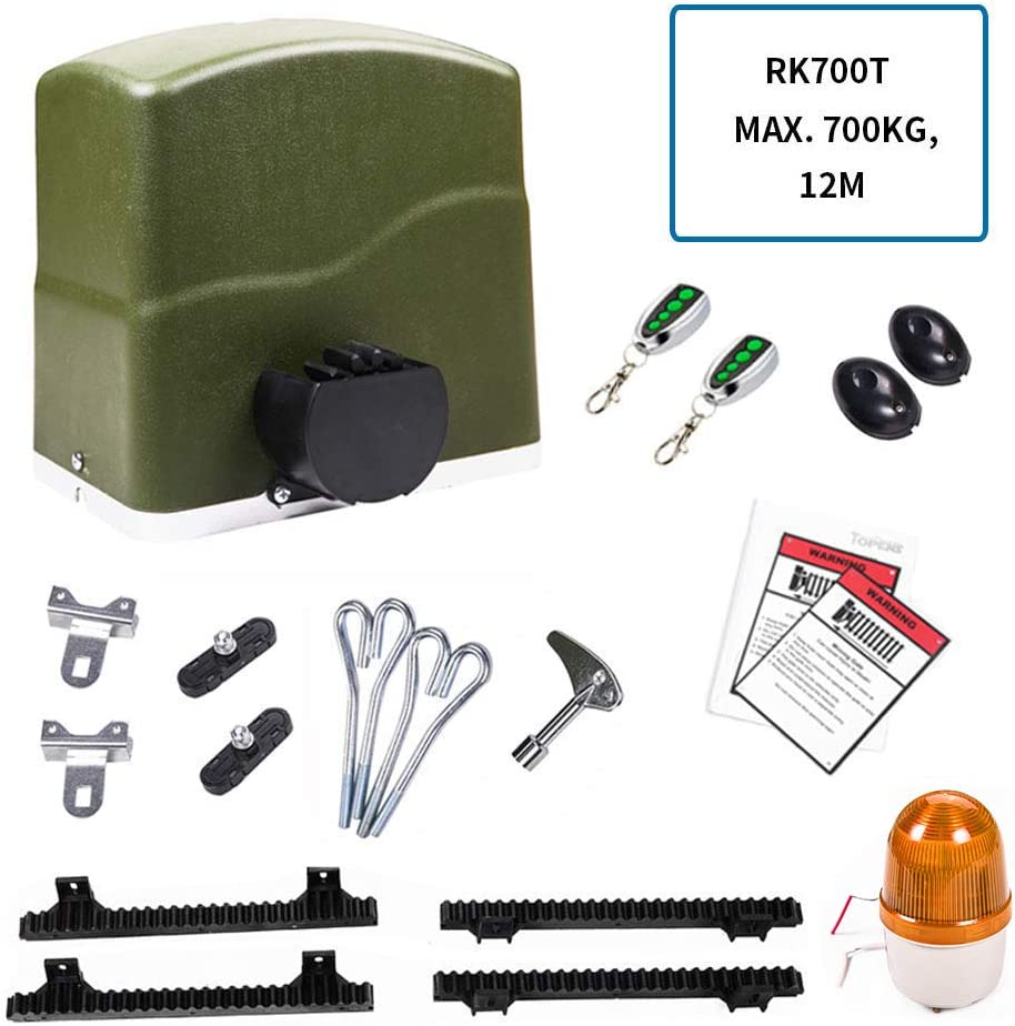 Topens - Mecanismo de puerta corredera con mando a distancia, apertura automática para puerta de patio y garaje, incluye 2 mandos. 300.00W