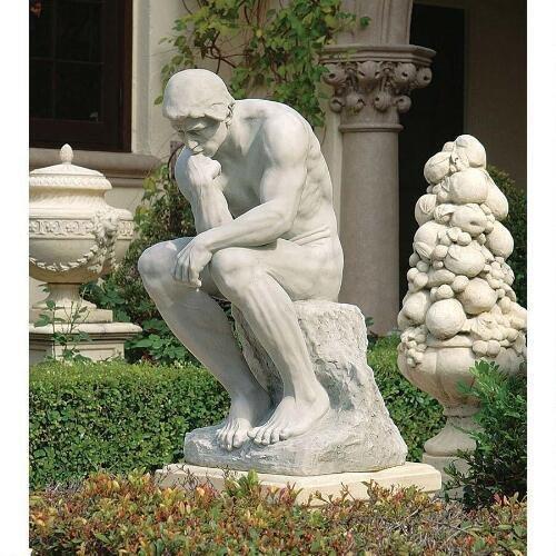 Thinker Gnome (Estate Thinker By Rodin Statue Design Grand Grande Scale The Thinker)