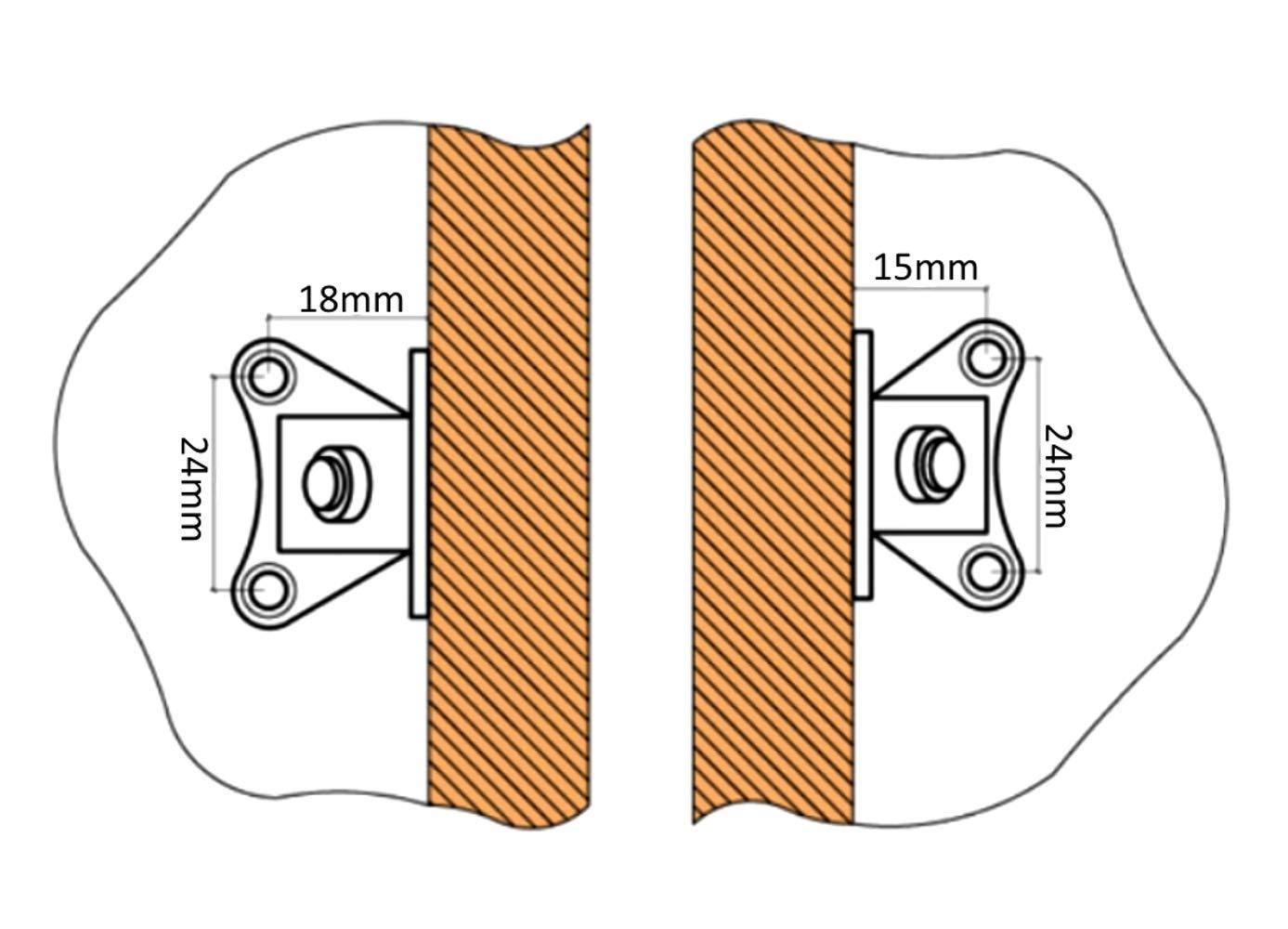 AERZETIX 10 /équerre raccord Renfort dangle Assemblage en m/étal pour Meuble Panneau C41527