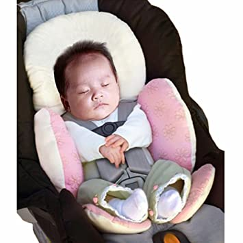 Baby Body Support Infant Stroller Pushchair Seat Cushion Car Liner Head Protection Soft