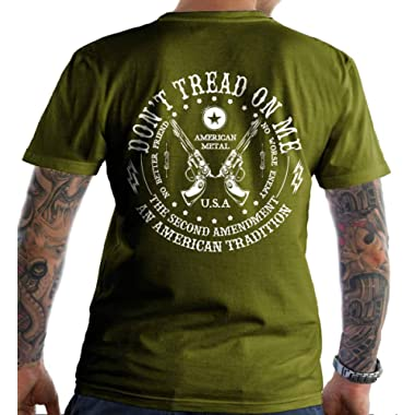 Sons Of Liberty Don't Tread on Me: The Second Amendment. T-Shirt. Made in USA