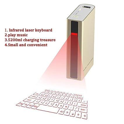 HSTV Bluetooth Virtual Proyección Teclado para La Tableta del Ordenador Portátil De La PC del Teléfono