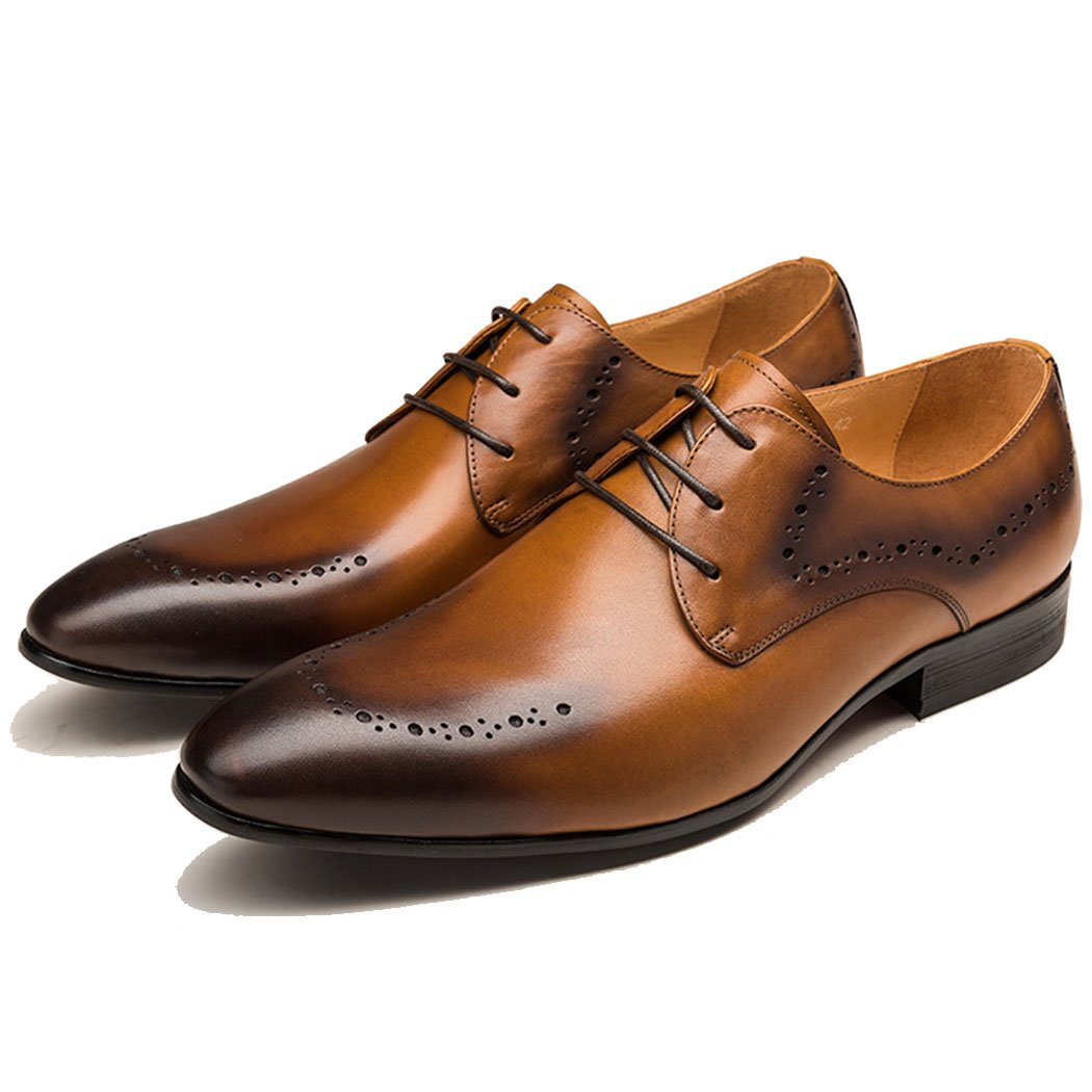 GAOLIXIA Herren Echtes Leder Geschäft Casual Schuhe Arbeitsschuhe Britischen Formalen Schuhe Mode Kleid Hochzeit Bankett Schuhe Große Größe