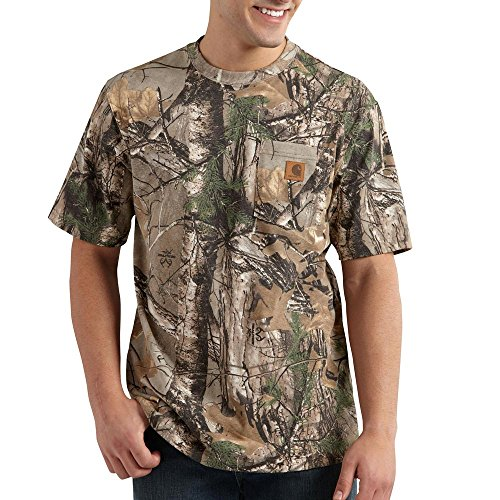 Mens Carhartt Camouflage - Carhartt Men's Big & Tall Work Camo Short Sleeve T-Shirt Original Fit,Realtree Xtra,XXXX-Large