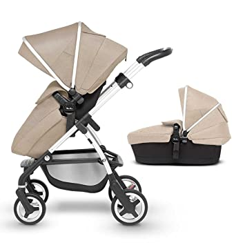 1ba0cdf20 Silver Cross Wayfarer Pushchair and Carrycot, Linen: Amazon.co.uk: Baby