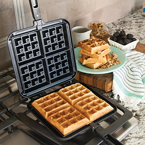 NordicWare 15040 Cast Aluminum Stovetop Belgium Waffle Iron by Nordic Ware (Image #1)