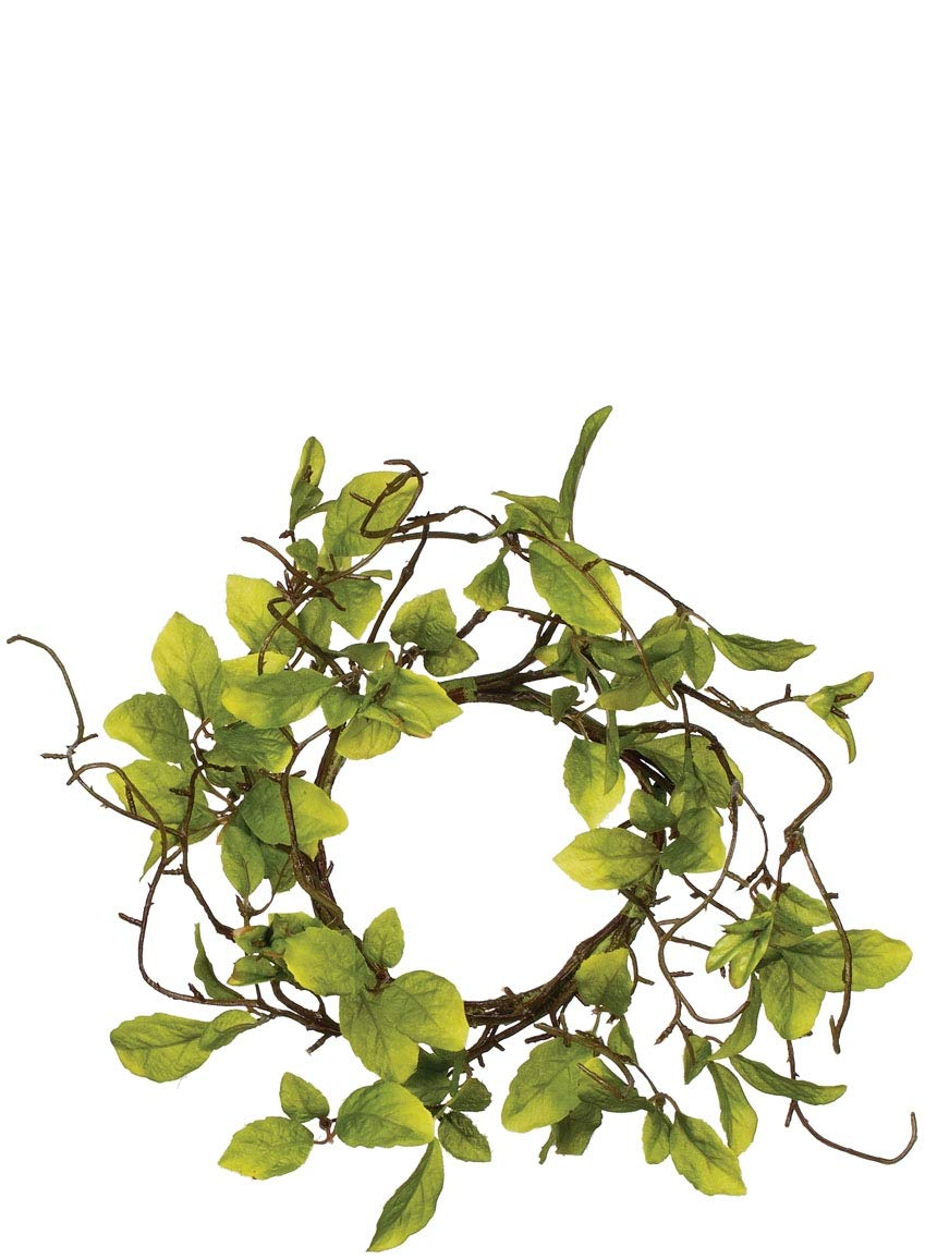 Sullivans Artificial Leaves and Twigs Candle Ring Wreath, 6''