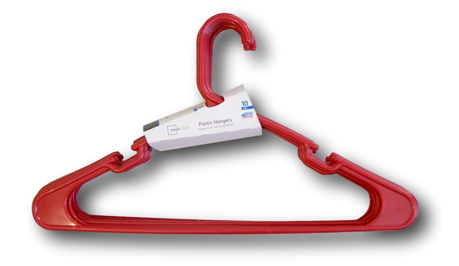 Adult Plastic Hangers Really Red 10-count