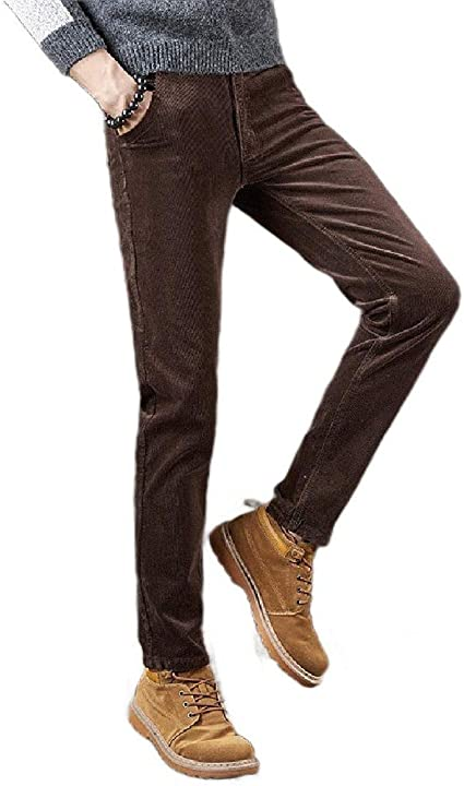 AngelSpace Men's Stretch 5-Pocket Straight-Fit Classic Comfy Corduroy Pant