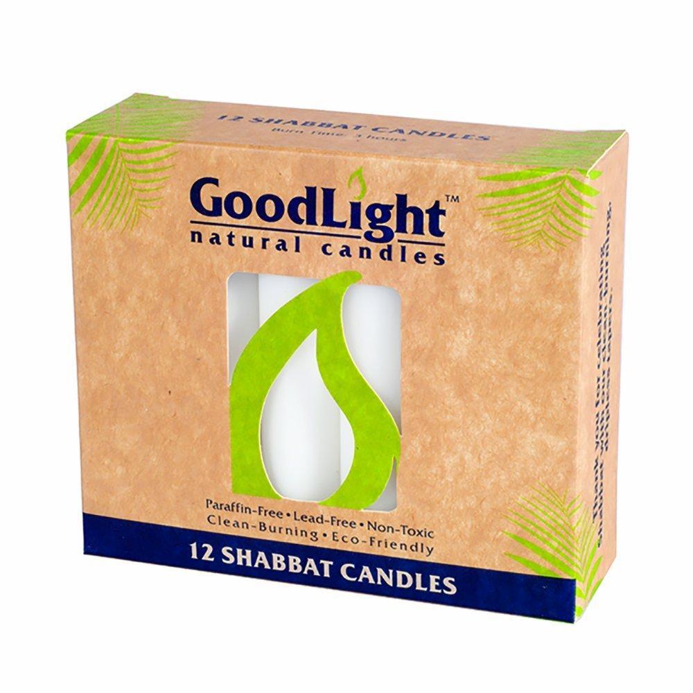 GoodLight, Candles Shabbat White, 12 Count
