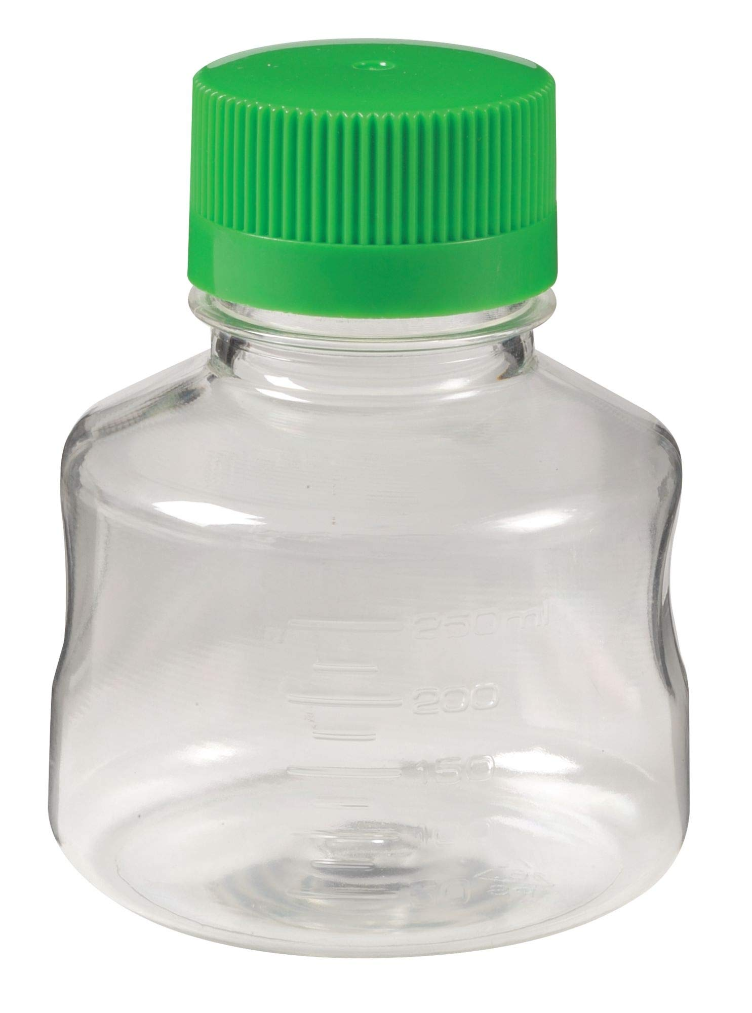 Lab Safety 250mL Solution Bottle, Wide Mouth, Polystyrene, PK 24 - 11L843