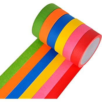Amazon Com Red Dot Colored Masking Tape 12 Colors 12