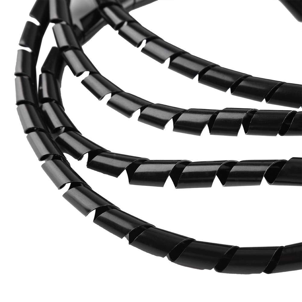 Blanco 10 Mm de Di/ámetro Ign/ífugo Tubo Espiral Alambre Wrap Organizador Bandas Cable Vaina Mangas del Cable de La Bobina de La Tuber/ía