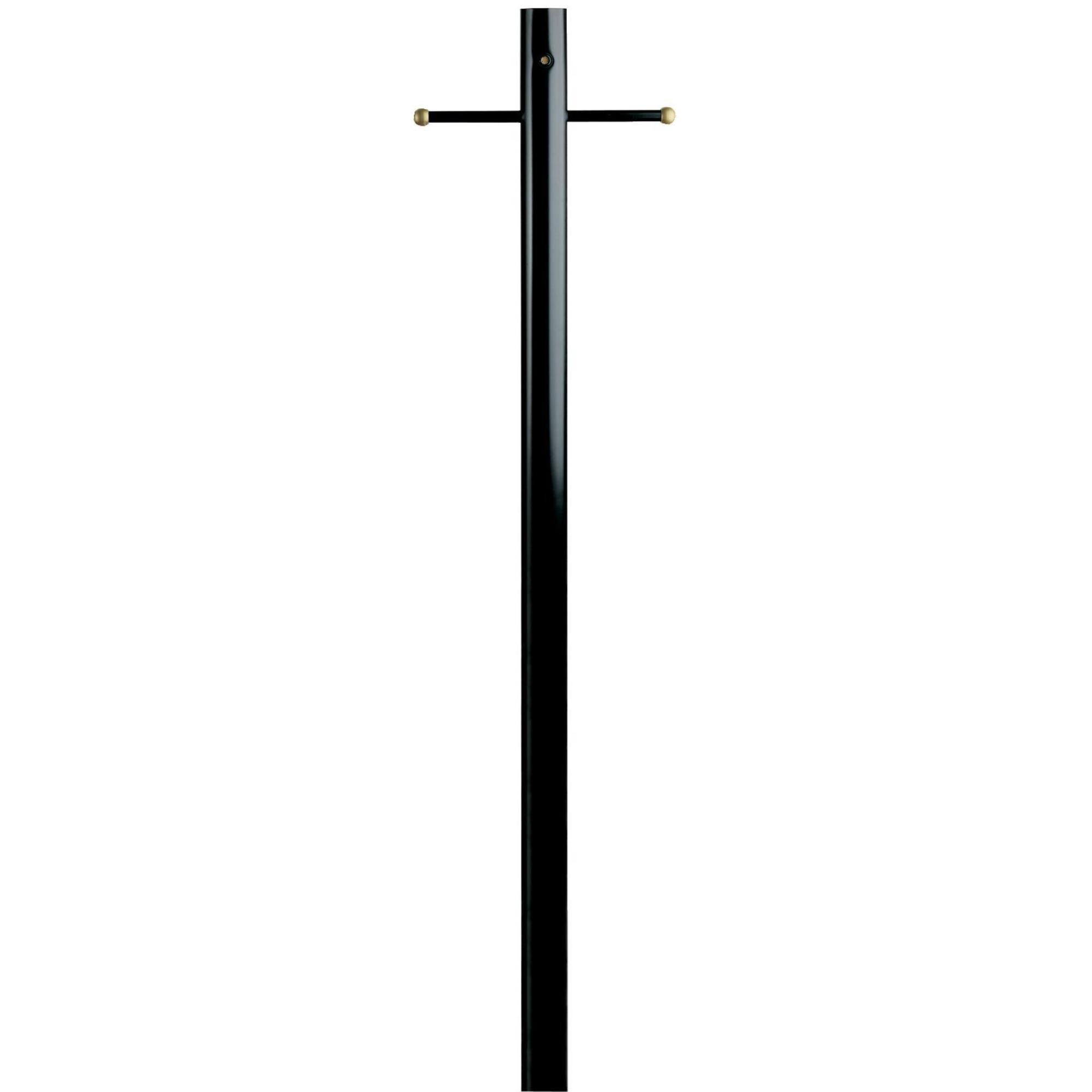 Westinghouse Lighting Lantern Post with Ground Convenience Outlet and Dusk to Dawn Sensor, Black Finish on Steel by Westinghouse Lighting