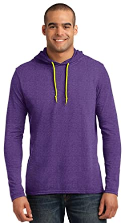 a7b0a0ec9 Image Unavailable. Image not available for. Color: Anvil Lightweight Long-Sleeve  Hooded T-Shirt ...