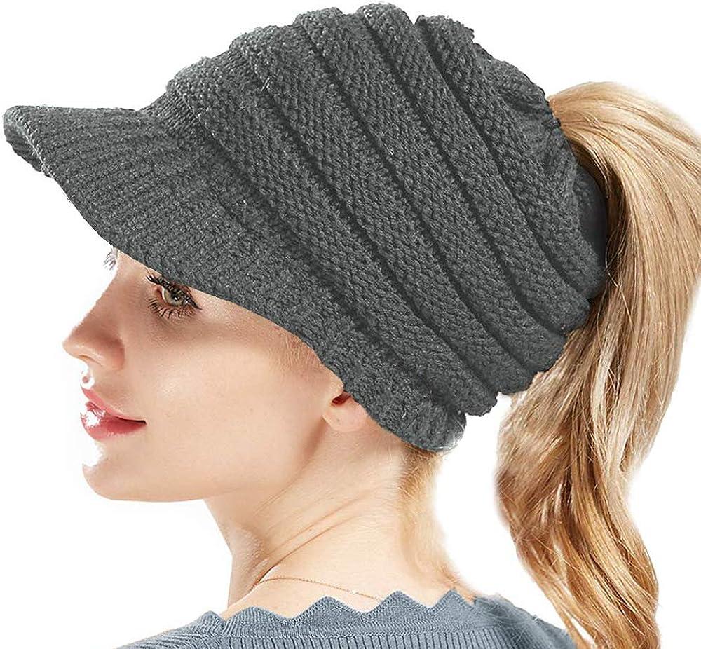 Sombrero Invierno Gorros de Punto Gorras para Mujeres Crochet Cálido Suave Sombreros de Esqui