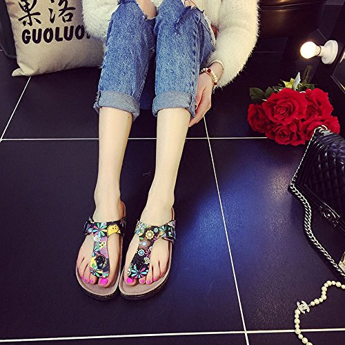 Slippers HAIZHEN Women shoes Female Summer Cork Fashion Thick Beach Shoes Sandals For 18-40 Years Old for Women (Color : #2, Size : EU36/UK3/CN35) #3
