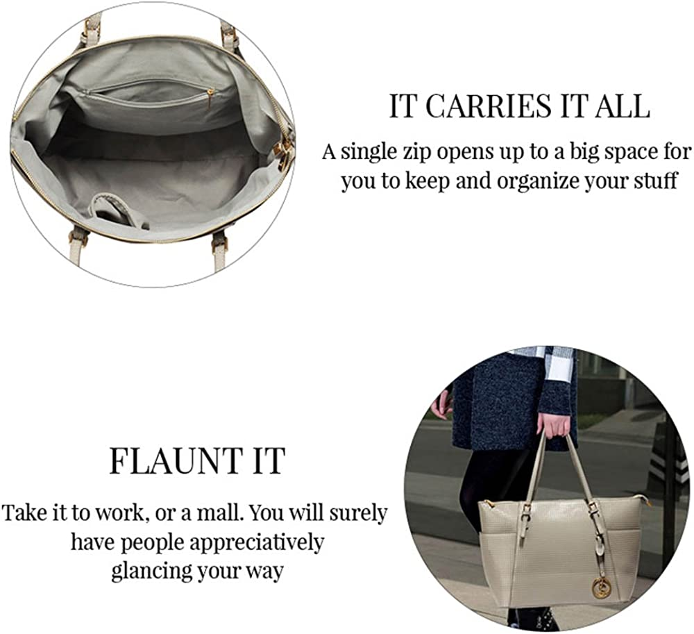 Womens Tote Handbags Womens Handbags Ladies Large Tote Bag Designer Faux Leather Celebrity Style New