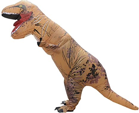 LaoZan T-Rex Traje inflable para adultos Disfraz de Halloween TRex ...