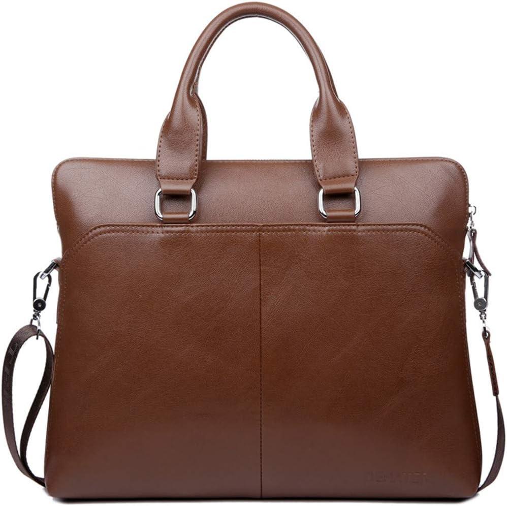 Leather Business Mens Briefcase Shoulder Bag Messenger Tote Computer Handbag blue pvc