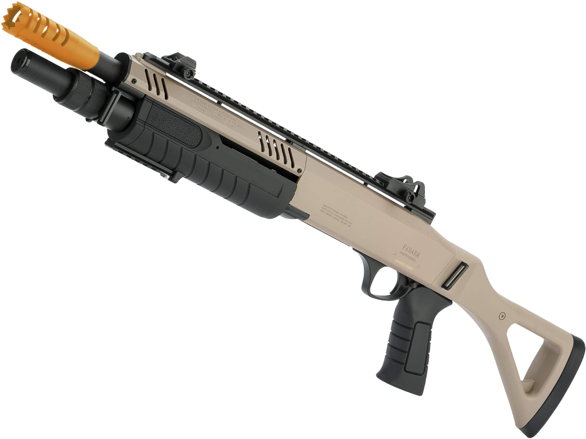 Evike FABARM STF12 Pump Action Tri-Shot Airsoft Shotgun w/Shooter-AR Mount (Model: Compact/Flat Dark Earth) by Evike