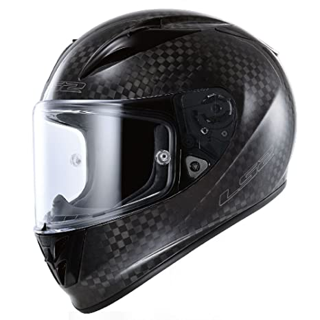 Amazon.com: LS2 Arrow Carbon Full Face Motorcycle Helmet (Black, X-Small): Automotive