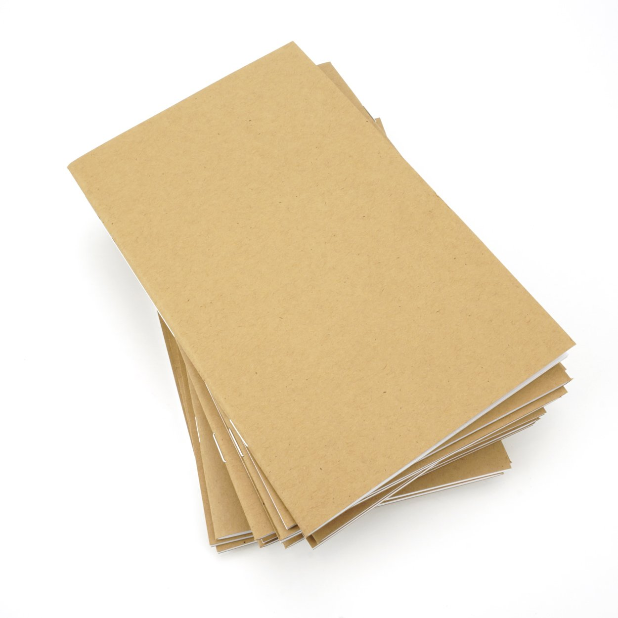 Kraft Notebook, 5 X 8 Inches, Set of 25, Bulk Notebooks, Kraft Brown, Blank Pages, Blank Cover, Medium Kraft Journals Bulk