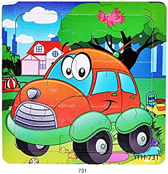 Tiny Souls Wooden Puzzle Happy Red Car