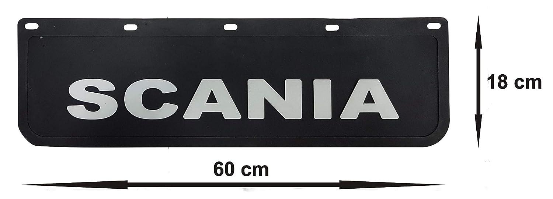 cami/ón color negro para cami/ón Guardabarros de goma resistente 60 x 18 cm 2 unidades remolque