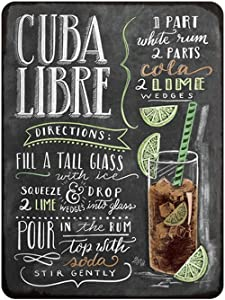 Kama Cuba Libres Cocktail Metal Sign Plaque Metal Vintage Pub Tin Sign Wall Decor for Bar Pub Club Man Cave Retro Metal Posters Iron Painting