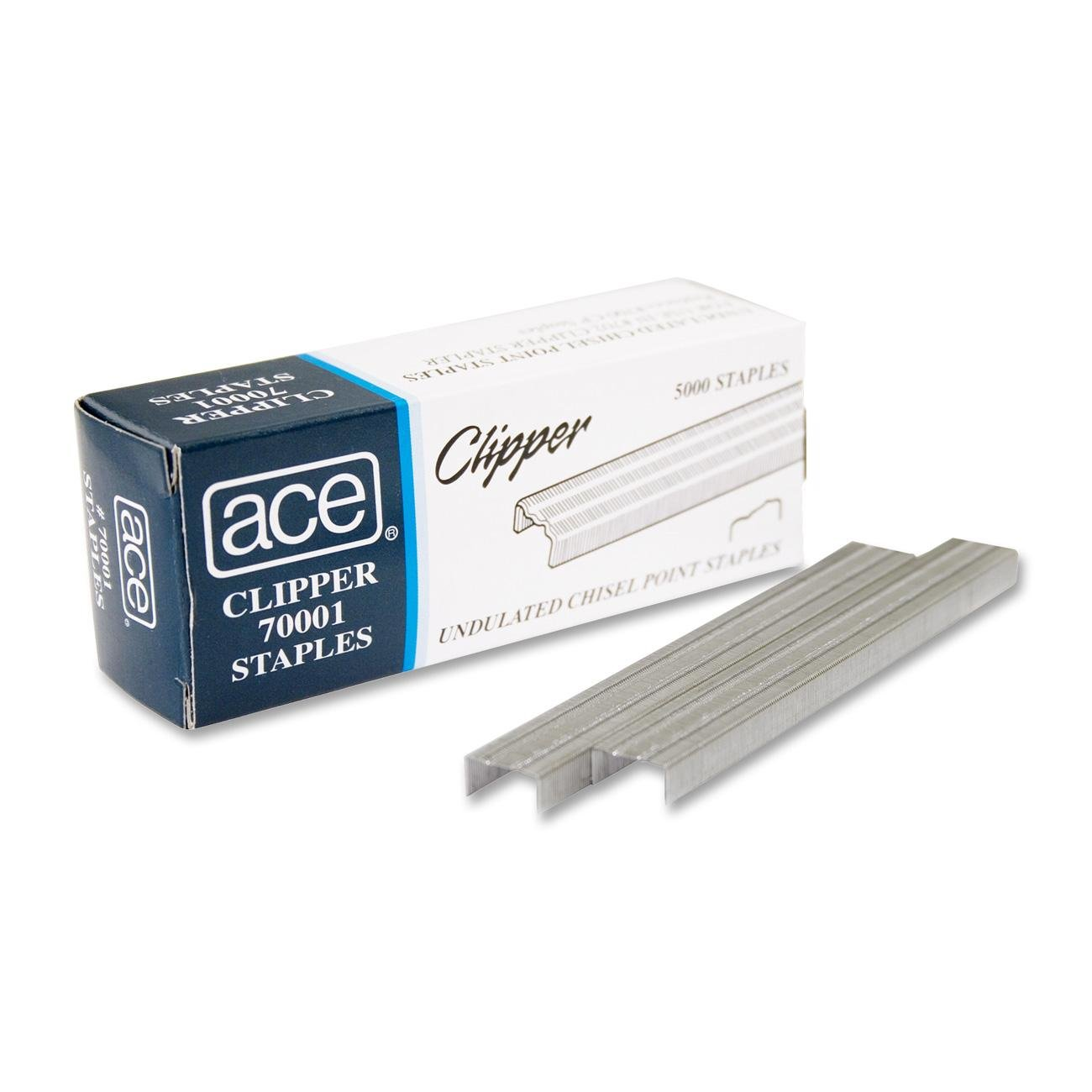 ACE-70001 Undulated Staples 1 Sleeve = 20 Boxes, 5000 staples per box by ACE