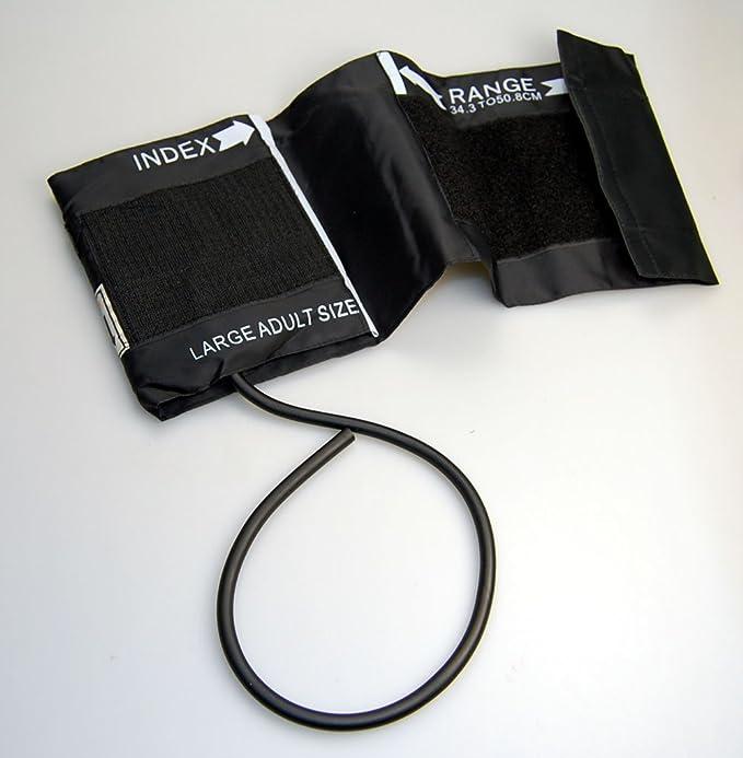 Presión arterial 1 Valuemed grandes tubo esfigmómetro puños modessimple adulto grande tubo 34,3 A 50,8 cm gama barrar: Amazon.es: Jardín